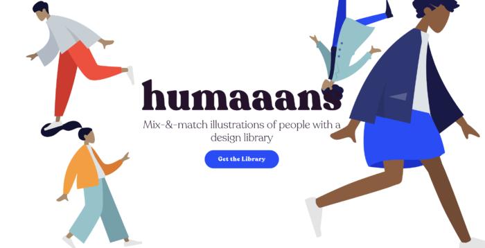 パーツを自由に組み合わせて人物イラストを作成できるhumaaansを試して